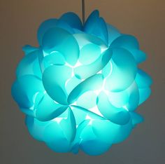 Curve Blue Designer Light Shade By Smartylamps