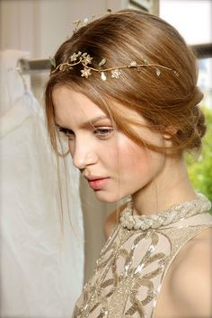 Valentino Couture F/W 2011 Backstage - hairband