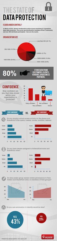 El estado de la protección de datos. #infografia #infographic