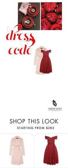 """""""Red 2"""" by just-lala ❤ liked on Polyvore featuring Rochas, women's clothing, women, female, woman, misses, juniors and reddress"""