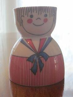 Rauschert German Porcelain Double Egg Cup Figural Boy Vintage | eBay