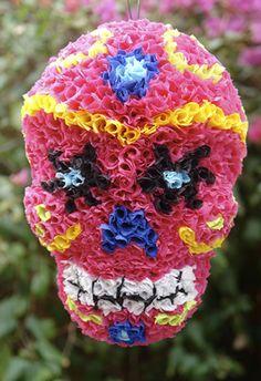dia de los muertos pinata // day of the dead // colorful skull