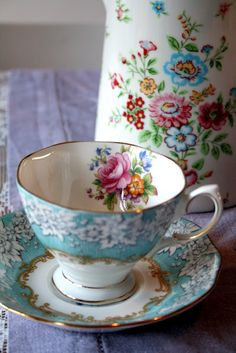 Buy your tea cups at flea markets and antique malls. They usually have a better selection of beautiful china than dept. stores. Biddy Craft
