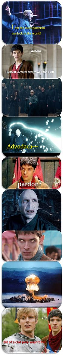 Harry Potter/Voldemort and Merlin crossover