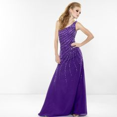 Riva collection long prom dress