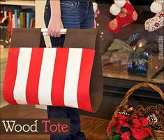 Sturdy Stylin' Firewood Tote for a great Father's Day gift Sewing Tools, Sewing Tutorials, Firewood Carrier, Log Carrier, Nautical Prints, Fabric Pen, Firewood Storage, Great Father's Day Gifts, Wrap Around
