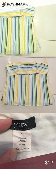 J. Crew tube top Good used condition no rips or stains zips on side size 0 like a size xsmall J. Crew Tops