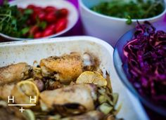Roast Chicken With Onions, Fennel & Lemon & Hemsley Lemon Roasted Chicken, Roast Chicken, How To Cook Chicken, Easy Delicious Recipes, Whole Food Recipes, Healthy Recipes, Healthy Food, Drink Recipes, Healthy Meals