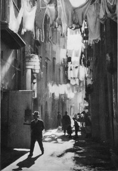 Narrow Street, Naples, Italy, 1929