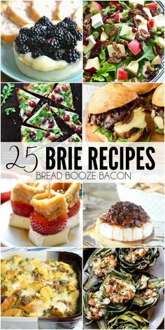 Is there anything better than ooey gooey cheese?! These 25 Brie Recipes will satisfy your cravings for all things creamy and delectable any time of day!sfy your cravings for all things creamy and delectable anytime of day!