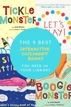Are you looking for new books to add to your child's library? I've compiled a list of the 9 best interactive children's books you MUST HAVE! They make GREAT gifts, too!