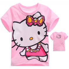 Camiseta infantil, transado, roupas transadas, roupa infantil,CAMISETA ANIMADA HELLO KITTY