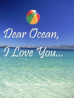 love the ocean Ocean Beach, Beach Fun, Beach Babe, Summer Beach, I Love The Beach, My Love, Beach Quotes, Ocean Quotes, Beach Signs
