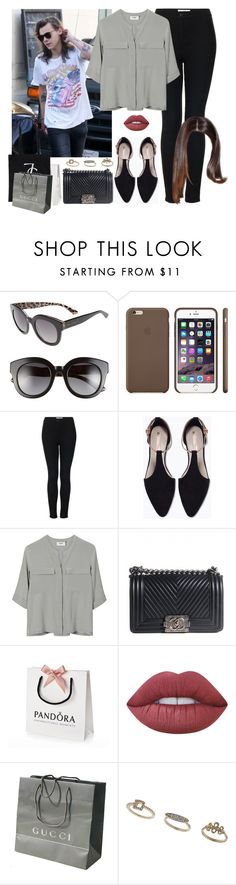 """""""Shopping in L.A. with Harry. -----> *Cynthia."""" by imaginegirlsdsos ❤ liked on Polyvore featuring Dolce&Gabbana, Black Apple, Topshop, Zara, PYRUS, Chanel, Lime Crime and Gucci"""