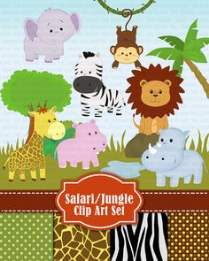 Hey, I found this really awesome Etsy listing at http://www.etsy.com/listing/152715368/jungle-safari-wild-zoo-animals-clip-art