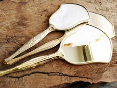Vintage 1940s Hand Mirrors  All Different by LavishMaidenVintage