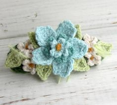Crochet Hair Barrette $