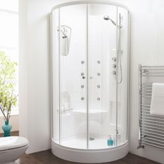 Luxus Duschkabine 840 x 840 mm mit Schiebetür