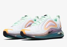 Official Images Of The Nike Air Max 720 Vibrant Pack Air Max Sneakers, Sneakers Nike, Fitness Inspiration Body, Latest Sneakers, White Nikes, Pink Fashion, Reebok, Nike Air Max, Nike Shoes