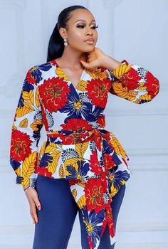 African Wear Dresses, Latest African Fashion Dresses, African Print Fashion, African Attire, Fashion Prints, Latest Fashion, Ankara Tops Blouses, Ankara Blouse, Latest Ankara Styles