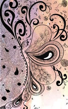 An accordian book made digital about Zentangle illustrations. Tangle Doodle, Tangle Art, Doodles Zentangles, Zen Doodle, Zentangle Patterns, Doodle Art, Doodle Inspiration, Doodle Ideas, Doodle Designs