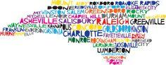 NORTH CAROLINA Digital Illustration of North by mollymattin, $15.00