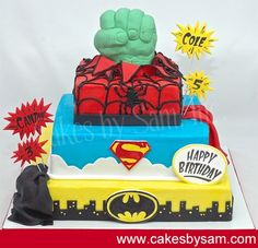 superhero+cakes - Click image to find more Other Pinterest pins