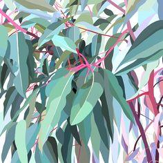 Australia artist Lamai Anne fine art prints for your home interior. Australian Native Flowers, Australian Artists, Tree Wall Murals, Painted Leaves, Leaf Art, Aboriginal Art, Pictures To Paint, Botanical Art, Painting Inspiration