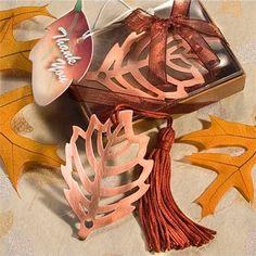 Autumn Leaf Bookmark Favour