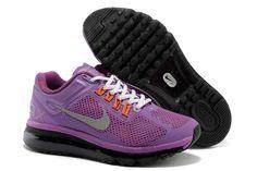 Nike Air Max+ 2013 Women's Running Shoes - Purple White / Silver / Black