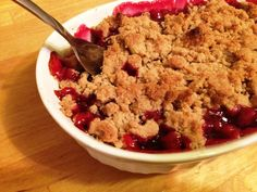 Sweet Cherry Crumble for Two