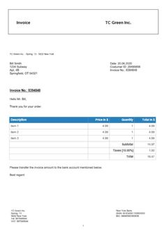 9 best free invoice template online images on pinterest invoice