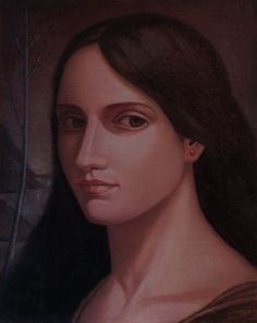Portrait . 2017 .oil on canvas ,27 x 21 cm .by Javad Azarmehr