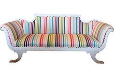 Rainbow sofa!