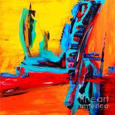 Title  Jet Setting   Artist  Elsa De   Medium  Painting - Acrylic On Canvas