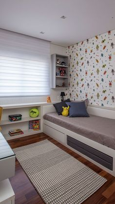 Small Bedroom Designs, Small Room Bedroom, Home Bedroom, Room Decor Bedroom, Apartment Interior Design, Room Interior, Hygge Home, Kids Bedroom Furniture, Inside Design
