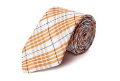 Italian Plaid Tie, Orange