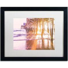 Trademark Art Newport Pier Sunset 2 by Ariane Moshayedi Framed Photographic Print Size: 1