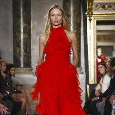 """@natashapoly is the lady in red at @EmilioPucci #FW15 #regram @lagoblu"""