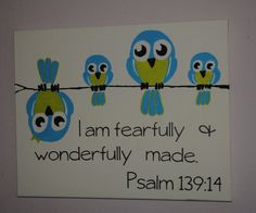 I am fearfully and wonderfully made - custom canvas quotes or sayings for your home