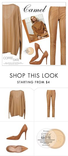 """""""Coffee Date"""" by amchavesj-1 ❤ liked on Polyvore featuring Jil Sander, Roberto Cavalli, H&M, Sebastian Professional, Rimmel and CoffeeDate"""