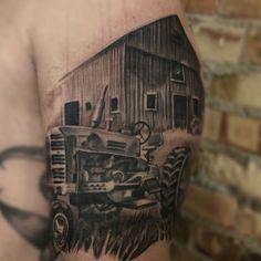 Tractor Tattoo « Mike Riina Tattoo