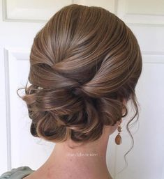 Polished Low Updo For Long Hair
