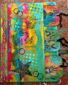 CREATIVITY IS CONTAGIOUS: COLOR LOVE ~ ART JOURNAL POCKET PAGE