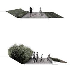 01_PASSERELLA CICLOPEDONALE SUL TORRENTE EGOLA IN LOC. MOLINO D'EGOLA   concorso di idee   Studio Galluzi Associati sezioni   passeggiata