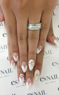 Stunning Wedding Nail Design
