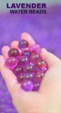 How To Make Lavender Water Beads - easy project to make - use anytime you need to calm yourself or kids down.