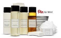 Pin to Win - London Silver Gift Set Bath ammenities @ Guesthouse Villa Reynaert  #Gilchristsoames