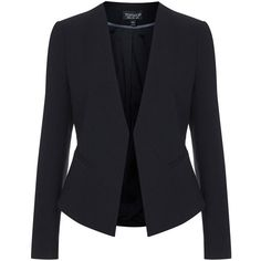 Women's Topshop 'Molly' Blazer featuring polyvore, women's fashion, clothing, outerwear, jackets, blazers, blazer, coats, bolero, slim blazer, topshop blazer, topshop jackets, tailored blazer and slim fit jackets
