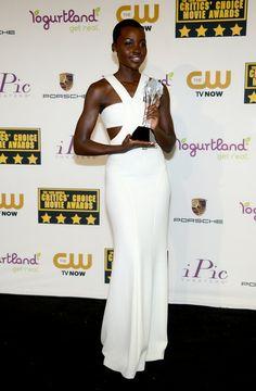 Lupita Nyong'o - Press Room at the Critics' Choice Movie Awards